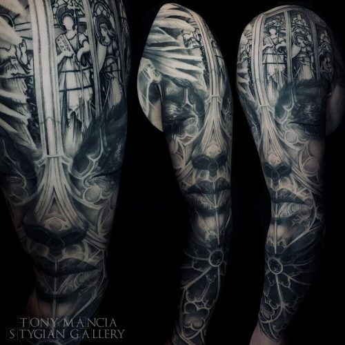 large cathedral sleeve 1