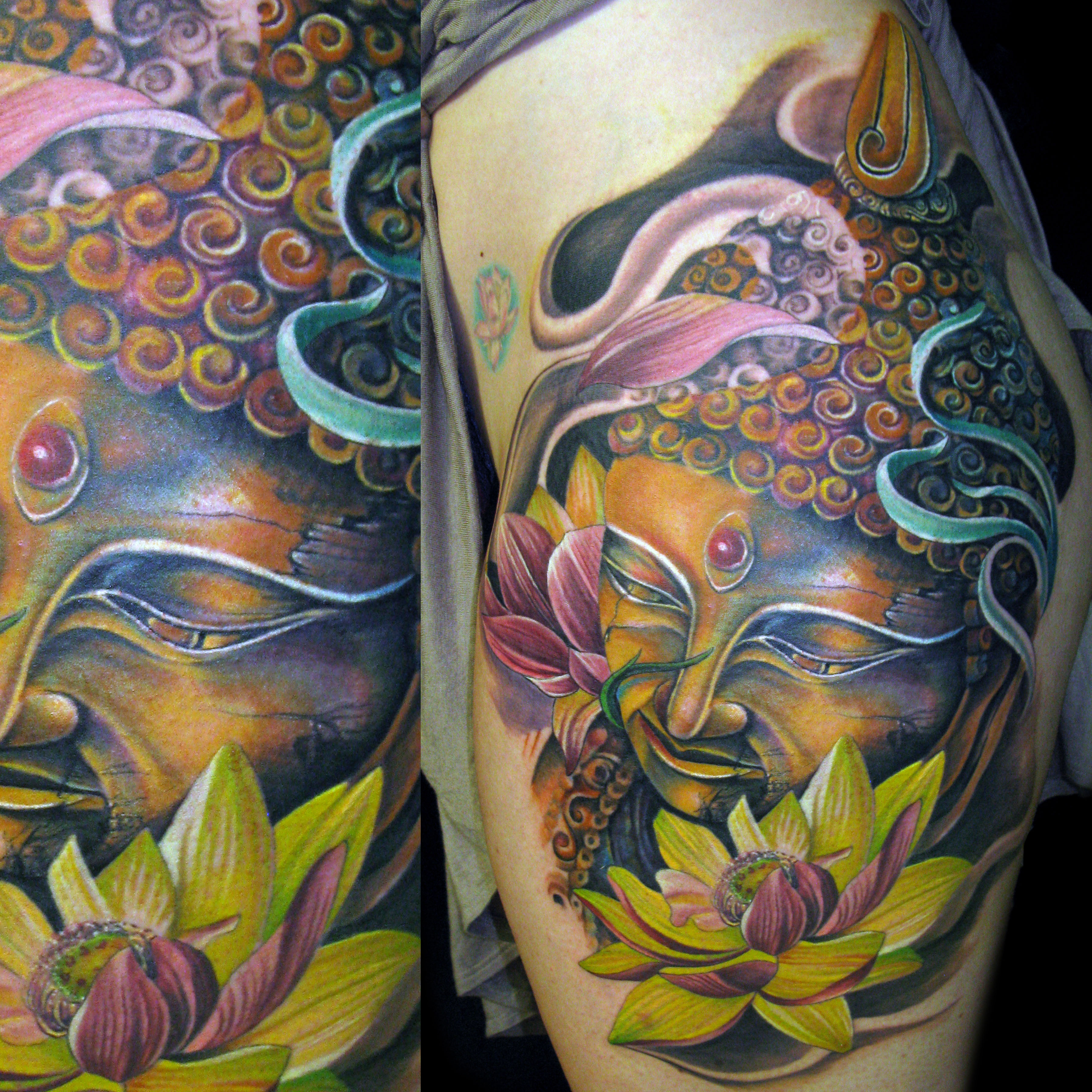 Buddha Lotus Flower Color Tattoo Mancia Stygian Gallery